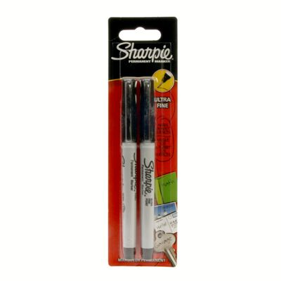 Sharpie Black Marker 2 Pack - Ultra Fine