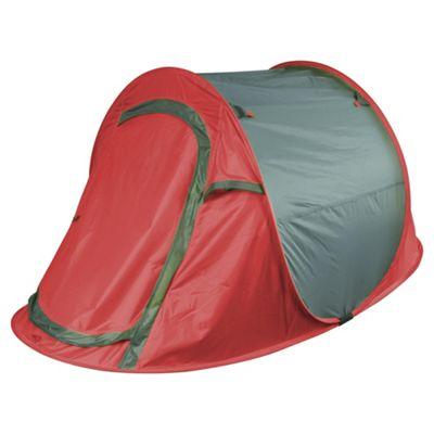 Tesco 2-Man Grey u0026 Red Pop Up Tent  sc 1 st  Tesco & Buy Tesco 2-Man Grey u0026 Red Pop Up Tent from our 2 Man Tents range ...