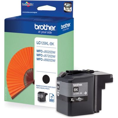 Brother LC129XL-BK Black (High 2400 Pages) Ink Cartridge
