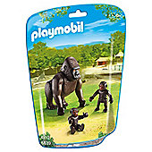 Playmobil 6639 City Life Zoo Gorilla Family