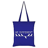 Be Different Royal Blue Tote Bag 38 x 42cm