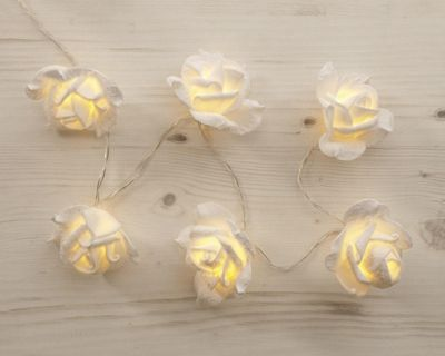 20 Flocked Flower Lights