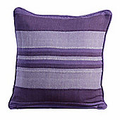 Homescapes Morocco Cotton Striped Mauve Prefilled Cushion, 45 x 45 cm