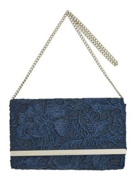 F&F Lace Clutch Bag Navy One Size