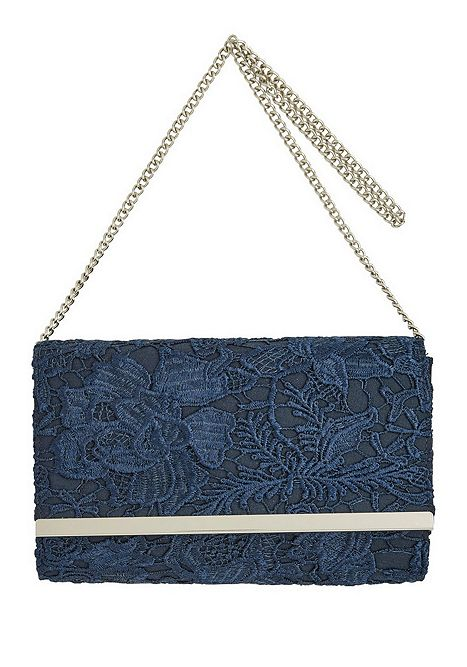 850cefaf997f F F Lace Clutch Bag Navy One Size Catalogue Number  531-0324
