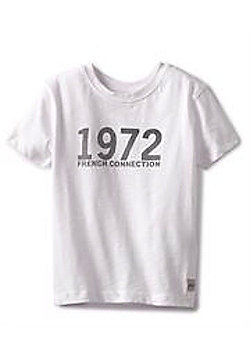 French Connection '1972' Logo Tee - Available In 4-5Y/5-6Y/6-7Y - White - White