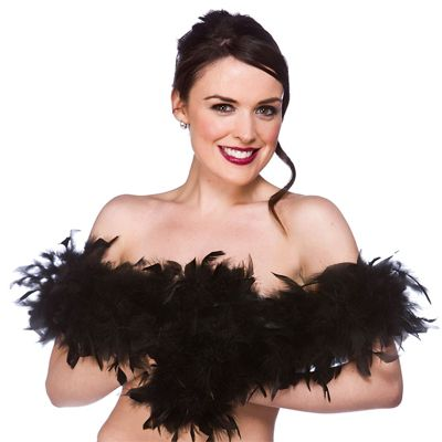 Supersoft Feather Boa 1.7m Perfect For Halloween/Hen Party Fancy Dress-Black