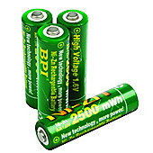Nickel-Zinc AA Rechargeable Batteries 4-Pack