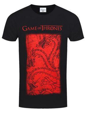 Game of Thrones Targaryen Dragon Men's GoT T-shirt, Black