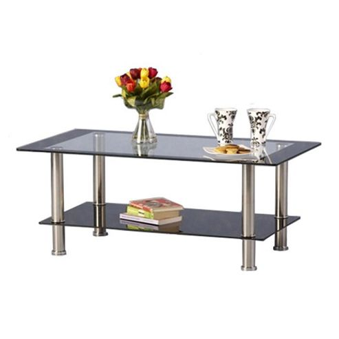 Harlequin Black and Clear Glass Coffee Table