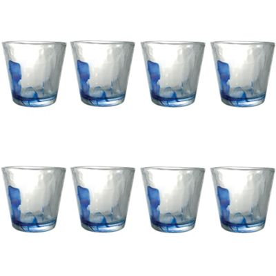 Bormioli Rocco Murano Water / Juice Tumbler Glasses - 270ml - Set of 8
