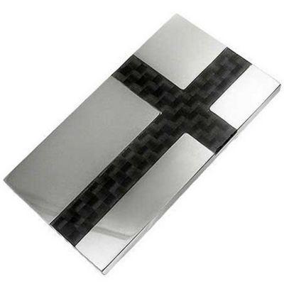 Urban Male Stainless Steel & Carbon Fibre Modern Money Clip
