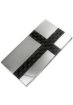 Urban Male Stainless Steel & Carbon Fibre Modern Money Clip