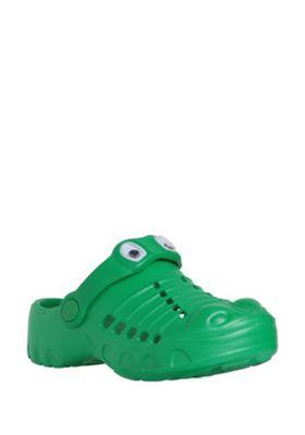 F&F Crocodile Clogs Green Child 10-11