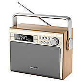 Philips Portable Vintage FM and DAB Radio - Wood