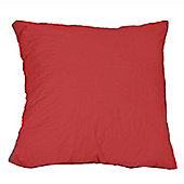 Homescapes Red Continental Large Square Pillowcase 100% Egyptian Cotton Pillow Cover 200 TC, 80 x 80 cm