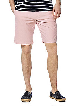 F&F Oxford Shorts with Woven Belt - Pink