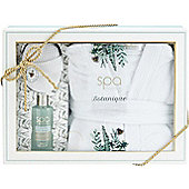 Style & Grace Spa Botanique Bathrobe Gift Set 200ml Body Wash + Sisal Sponge + Bathrobe