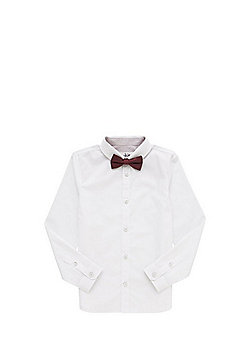 F&F Long Sleeve Shirt with Bow Tie - White