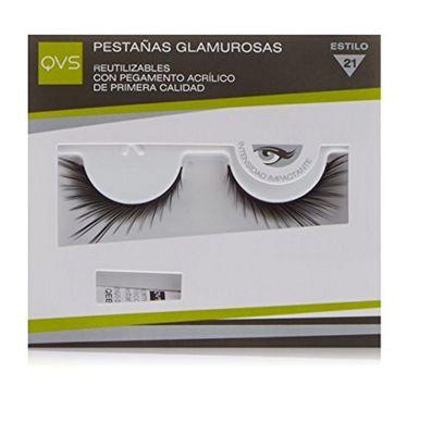 QVS Glamour Lashes Fluttering Feathers Eyelashes Includes Lash Adhesive