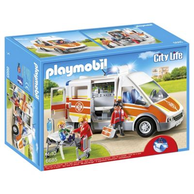 Playmobil 6685 City Life Children's Hospital Ambulance Playsetwith Lights and Sound