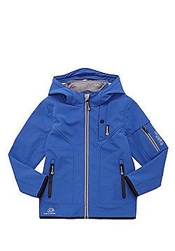 F&F Tech Logo Hooded Shell Jacket - Blue