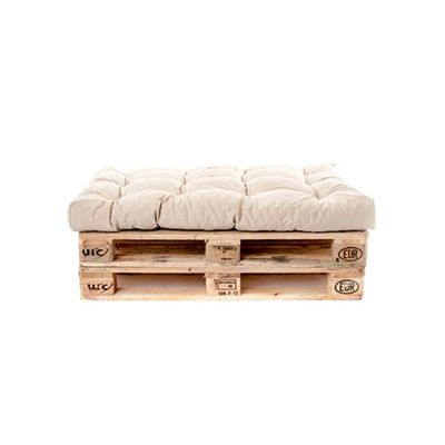 Gardenista Tufted Seat Pad in Water Resistant Fabric for Pallet Furniture Seating - Stone