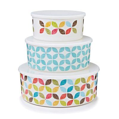 Buy Cooksmart Retro Design Melamine Storage Containers Set of 3