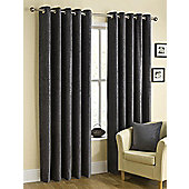 Puerto Ready Made Eyelet Curtains Grey 90x54 Inches