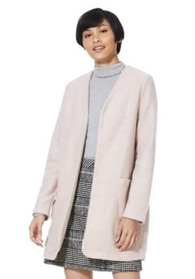 F&F Collarless Boucle Jacket Pink 6