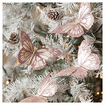 Butterfly Christmas Tree Decorations, 4 pack Catalogue Number: 531-6316