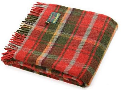 Tweedmill Textiles 100% Pure Wool Blanket Tartan Throw Design in Dark Maple