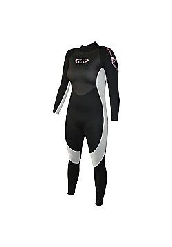 Ladies Full suit 2.5mm Blk/Silv Size 10