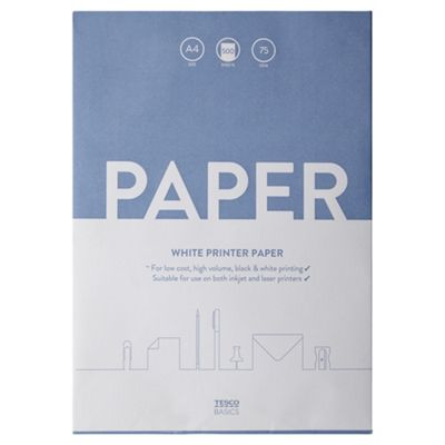 Tesco Basics A4 White Paper 500 Sheets 75gsm
