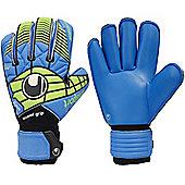 Uhlsport Eliminator Absolutgrip Roll Finger Goalkeeper Gloves Size - Blue