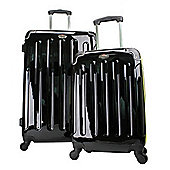 Swiss Case 4 Wheel Ez2c 2Pc Suitcase Set Fluvo