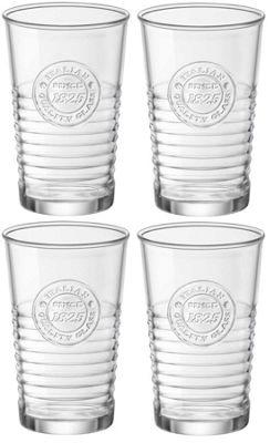 Bormioli Rocco Officina Vintage Tumbler Glasses, Gift Boxed - 325ml (11oz) - x4