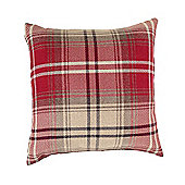 McAlister Angus Cushion - Red Wool Look Tartan Check 43cm