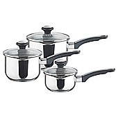 Prestige Everyday Stainless Steel 3 piece Induction Pan Set