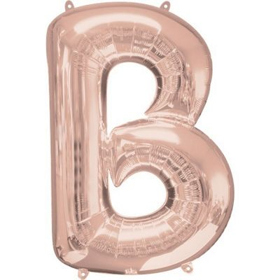 Rose Gold Letter B Balloon - 34 Foil