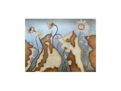 Oceans Apart 3 Panel Flower Wall Art