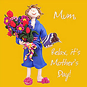 Holy Mackerel Relax its Mother's Day Greetings Card