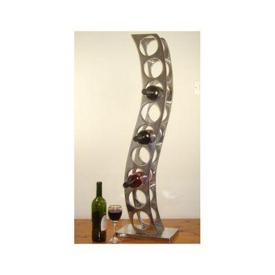Cranville Wine racks 9 Bottle Cast and Polished Solid Aluminium Girder Wine rack