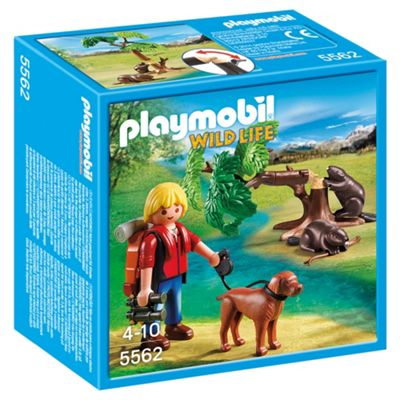 Playmobil 5562 Wildife Adventure Tree House Beavers with Backpacker