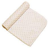 Cuddles Collection Dimple Pram Blanket (Cream)
