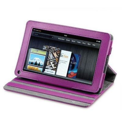 U-bop Neo-Orbit Quad-Angle Flip Case Purple - For Amazon Kindle Fire HD
