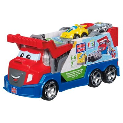 Mega Bloks First Builders Tiny 'n Tuff Race 'n Chase Rig