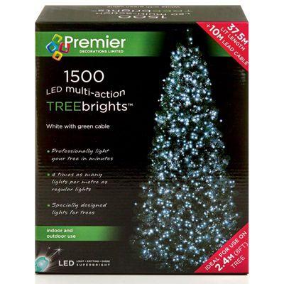 Premier 1500 Multi Action Treebright LED Lights - White
