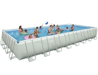 Intex Ultra Frame Rectangular Saltwater Metal Pool 12' x 24' x 52