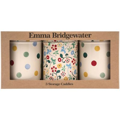 Emma Bridgewater Polka Floral Set of Three Storage Caddies (BOXED)